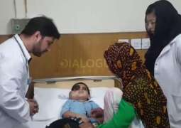 Faisal Vawda announces free treatment of little eye-patient, takes him to SKMH