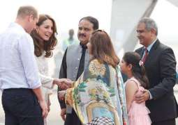 Prince William, his wife Princess Kate arrive in Lahore