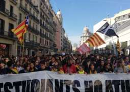 Thousands of Students March in Barcelona as Nationwide Protests Over Court Ruling Continue