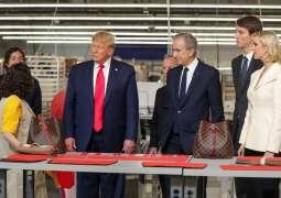 Donald Trump inaugurates new Louis Vuitton US site