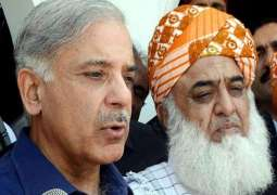 Fazlur Rehman, Shehbaz Sharif deliberate on Azadi March plan