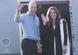 British's royal couple flies back to the UK