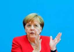 Merkel Says Will Discuss Civilian Impact of Turkey's Syria Offensive With Erdogan