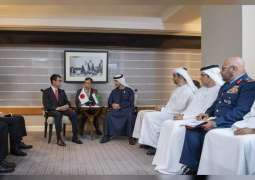 Hazza bin Zayed meets Japanese Defence Minister