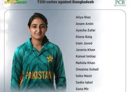 Pakistan women team for T20I series against Bangladesh announced