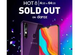 Infinix Hot 8 4+64GB with 5000mAh Battery Sold Out on daraz in just 3 hours!!!