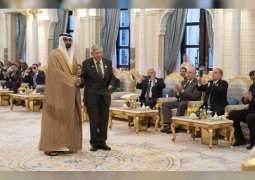 محمد بن زايد و بولسونارو يشهدان تبادل اتفاقيات ومذكرات تفاهم بين الإمارات والبرازيل