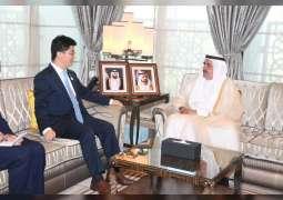 Hamdan bin Rashid receives Chinese Consul-General in Dubai