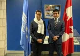 Aisha Al Hamli presents campaign visions to ICAO Council
