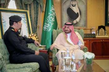 سمو نائب أمير الجوف يستقبل مدير دوريات الأمن بالمنطقة