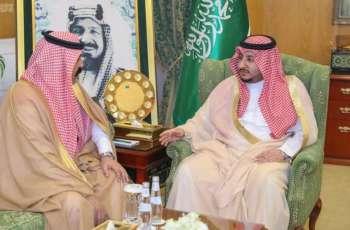 سمو نائب أمير الجوف يستقبل مدير مكافحة المخدرات بالمنطقة