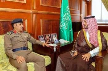 سمو نائب أمير حائل يستقبل مدير الدفاع المدني بالمنطقة