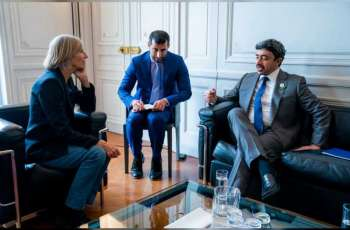 Abdullah bin Zayed meets Chairperson of Foreign Relations Committee of French Parliament