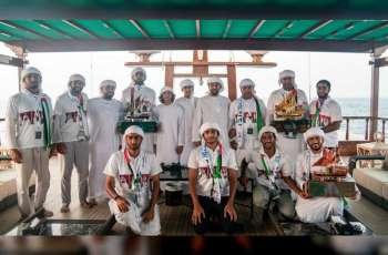 """حمدان بن زايد يتوج المحمل """" زلزال """" بطلا لسباق دلما التاريخي للمحامل الشراعية فئة 60 قدما"""