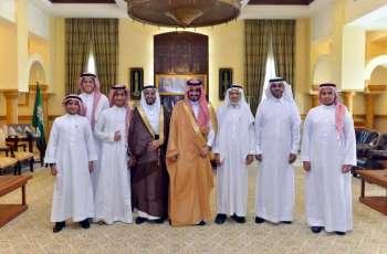 سمو الأمير بدر بن سلطان يستقبل الفائزين بالمركز الأول في الأولمبياد العالمي للروبوت