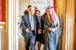 وزیر الدولة للشوٴون الخارجیة السعودي عادل الجبیر یصل العاصمة الفرنسیة باریس في زیارة لہ الرسمیة