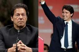 رئیس الوزراء الباکستاني عمران خان یھنئي جاستن ترودو علي فوزہ في الانتخابات بکندا