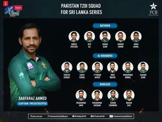 Pakistan squad for Sri Lanka T20Is announced