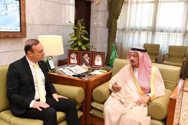 سمو أمير الرياض يستقبل سفير جمهورية لبنان لدى المملكة