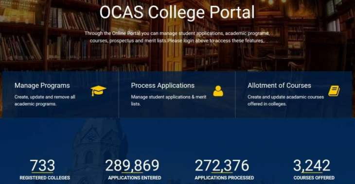 OCAS Receives 272,372 Applications for Intermediate Admissions in 713 Colleges across Punjab