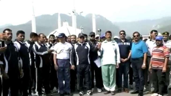 National games torch relay ceremony held at federal capital