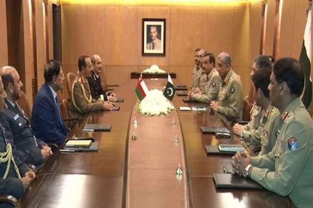Oman's Chief of Staff calls on General Bajwa