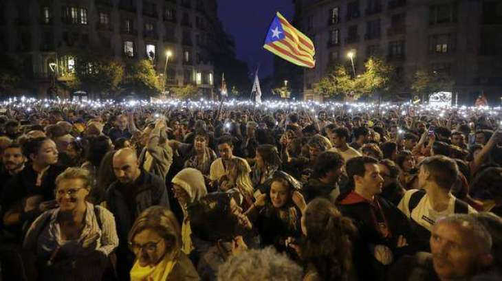 Six People Detained, Three Injured in Catalan Protests on Sunday - Reports