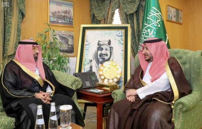 سمو نائب أمير الجوف يستقبل مدير الهلال الأحمر المعيًن حديثاً بالمنطقة