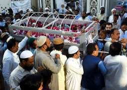 Funeral prayer of man died of Tezgham's inferno offered in Mirpurkhas