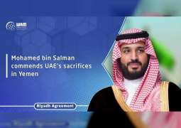 Mohamed bin Salman commends UAE's sacrifices in Yemen