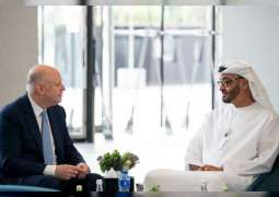Mohamed bin Zayed receives Total CEO, and Chairman of New York Stock Exchange