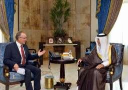 سمو الأمير خالد الفيصل يستقبل السفير الألماني