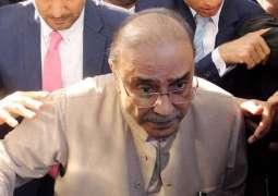NAB Court rejects Zardari's request regarding his shifting to Karachi for treatment