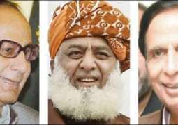 Chaudhry brothers meet JUI-F Chief for peaceful solution of  countrywide protests