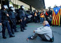 Pro-Independence Protesters Storm Barcelona Railway Station