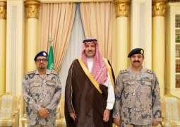 سمو أمير المدينة المنورة يُقلد مساعد قائد حرس الحدود بالمنطقة رتبته الجديدة