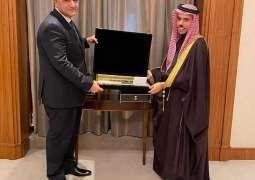 سمو وزير الخارجية يستقبل السفير المصري لدى المملكة