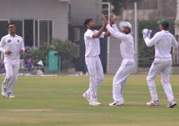 Mohammad Asghar records his eighth first-class five-wicket haul