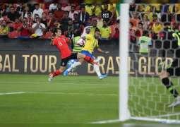 """البرازيل تهزم كوريا الجنوبية بثلاثية نظيفة """"وديا"""" على استاد محمد بن زايد"""