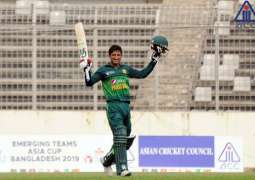 Rohail's century earns Pakistan ACC Emerging Teams Asia Cup 2019 trophy