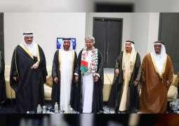 Suroor bin Mohammed, Nahyan bin Mubarak attend Omani National Day reception