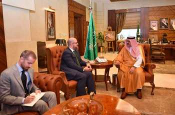 سمو الأمير مشعل بن ماجد يستقبل القنصل العام الأمريكي بجدة