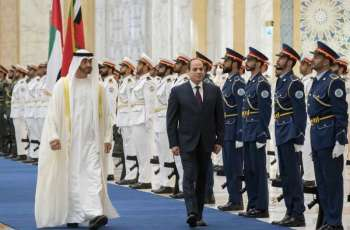 Sheikh Mohamed bin Zayed receives Egyptian President