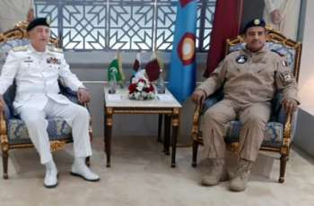 Chief Of The Naval Staff Admiral Zafar Mahmood Abbasi Meets qatari Military Heads & Delivers Lecture In Command & Staff College
