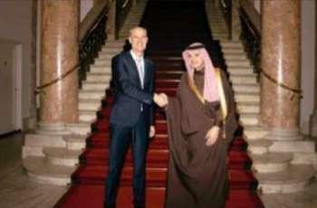 وزیر الخارجیة الھولندي ستیف بلوک یستقبل وزیر الدولة للشووٴون الخارجیة السعودي الأستاد عادل بن أحمد الجبیر