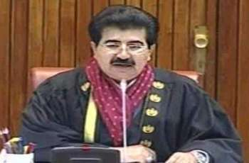 Sanjrani takes notice of absence of Secretary Interior from Senate