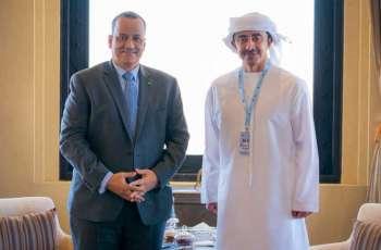 عبدالله بن زايد يستقبل وزير خارجية موريتانيا