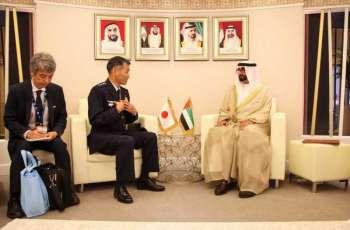 وزير الدولة لشؤون الدفاع يلتقي عددا من كبار ضيوف معرض دبي للطيران 2019