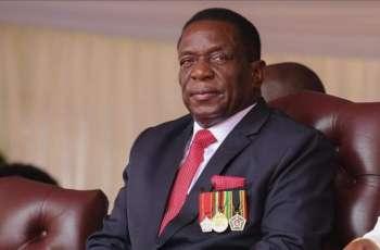 Hamdan bin Rashid receives President of Zimbabwe