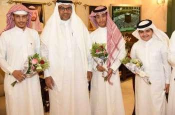 تعليم مكة المكرمة يُكرم عدداً من الطلاب بعد تحقيقهم مراكز متقدمة على مستوى المملكة
